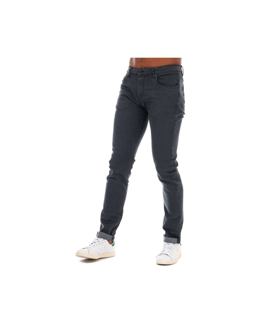 Image for Men's Ringspun Poseidon Relaxed Skinny Fit Jeans in Gunmetal