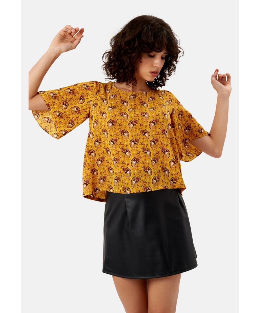 Image for Paisley Whisper Top in Yellow