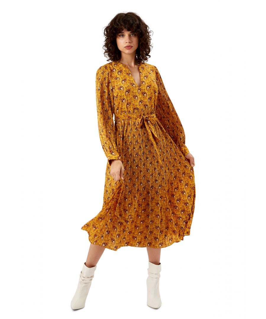 Image for Paisley Print Fallen Maxi Dress in Yellow