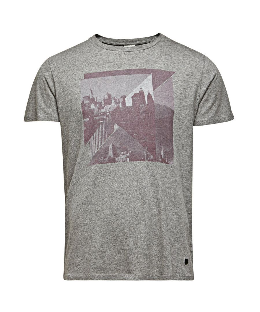 Image for Jack and Jones Premium Alec Tee Crew Neck Grey T-Shirt