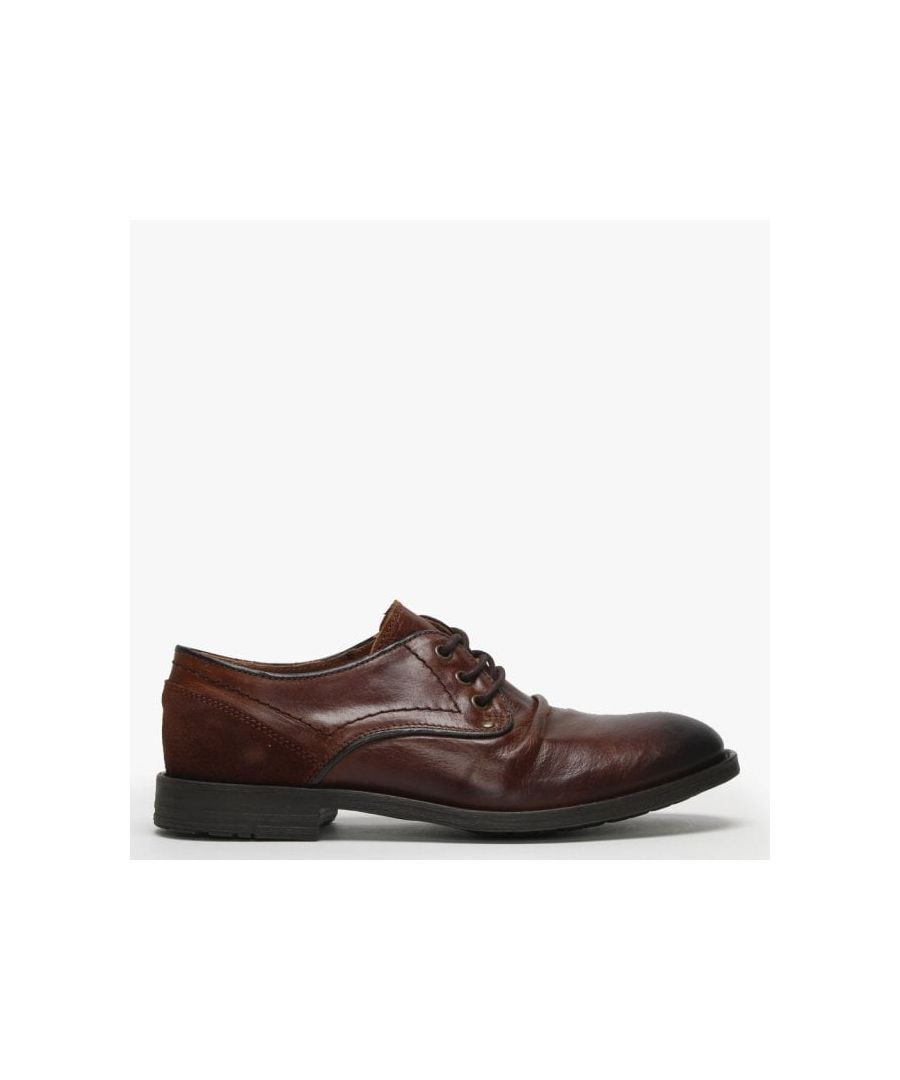 Image for Daniel Prentishoe Ruched Leather Lace Up Shoes
