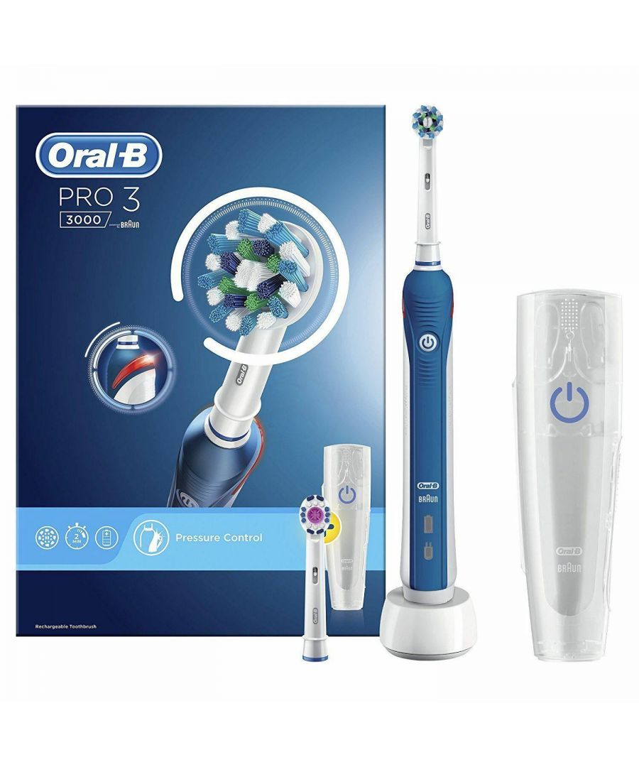 Image for Oral-B PRO 3 3000 Cross Action 3D Electric Rechargeable Toothbrush +2 Head