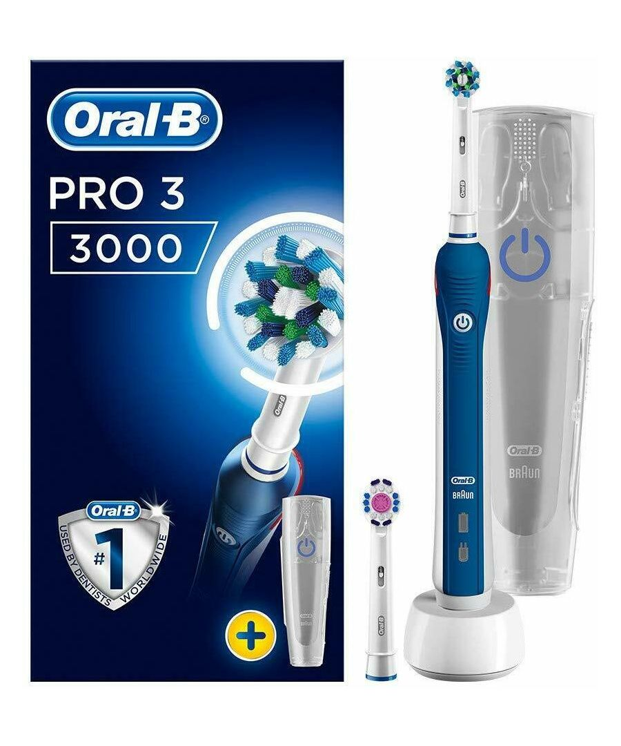 Image for Oral-B Pro 3 3000 CrossAction Rechargeable Toothbrush With 1 Handle & 2 Modes