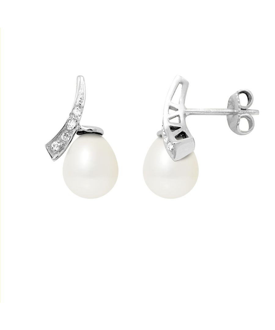 Image for White Freshwater Pearls, Diamonds Earrings and white gold 750/1000
