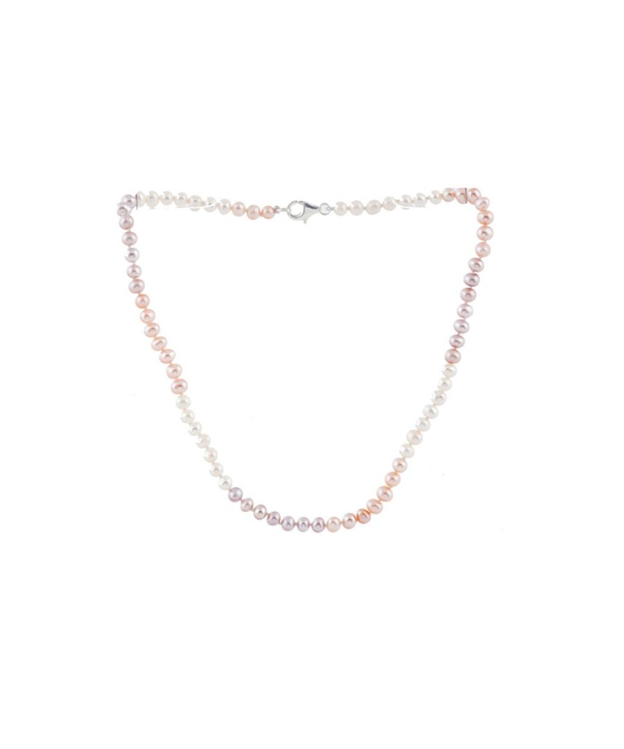Image for Multicolor Freshwater Pearl Child Necklace and Silver Clasp
