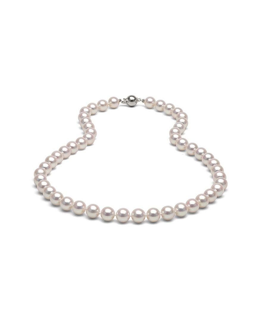 Image for White Freshwater Pearl 91 cm Long Necklace and 925 Silver
