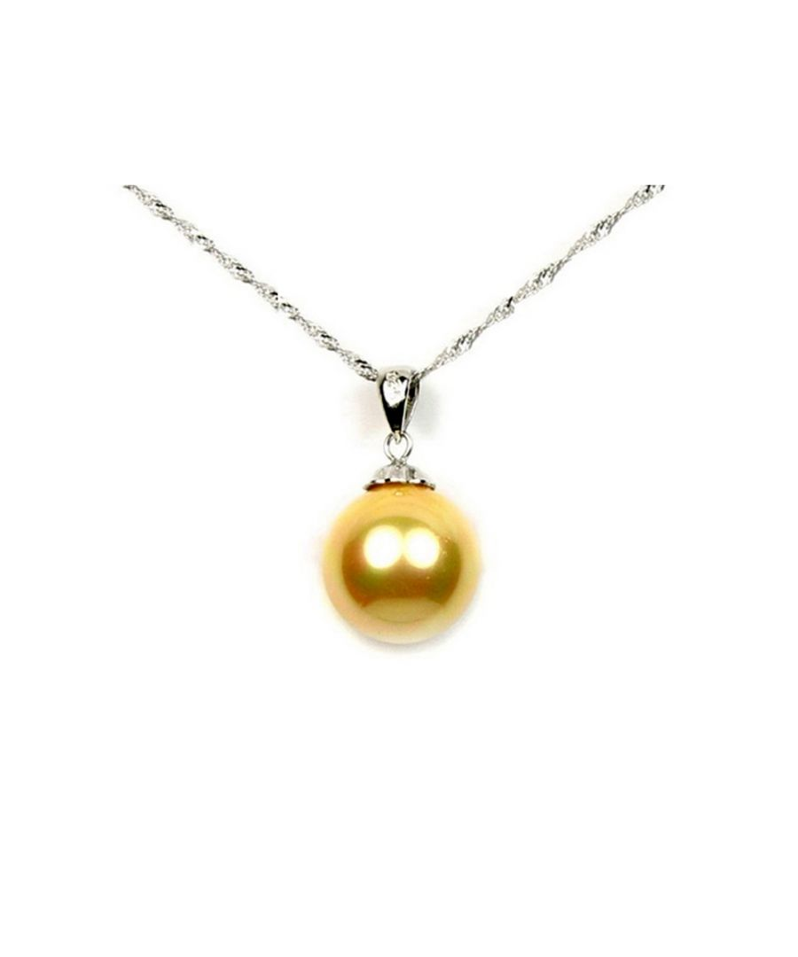 Image for Gold imitation mother-of-pearl Pendant and 925 silver