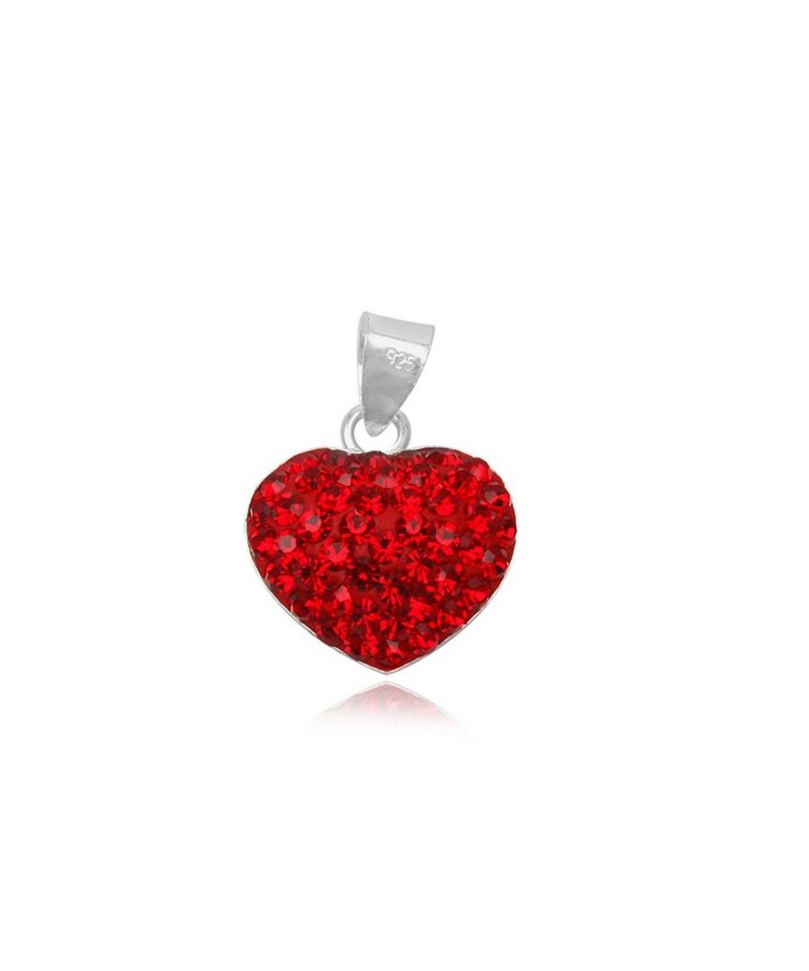 Image for Red Crystal Heart Pendant and 925 Silver