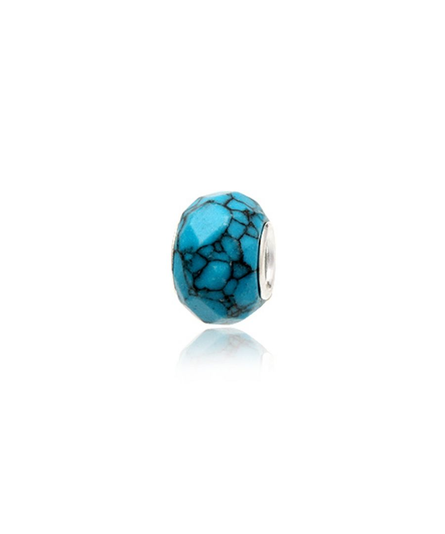 Image for Turquoise Gemstone Charms Bead and 925 Silver