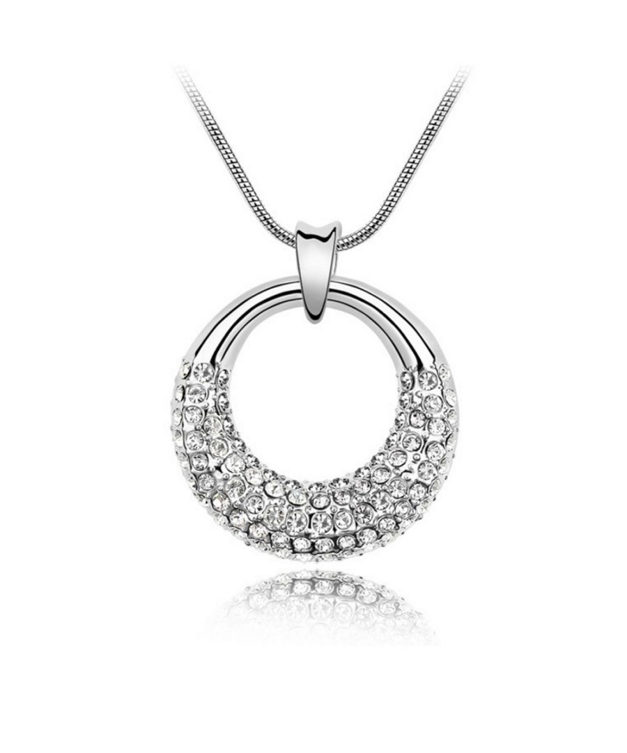 Image for Swarovski - Pendant made with a White Crystal from Swarovski