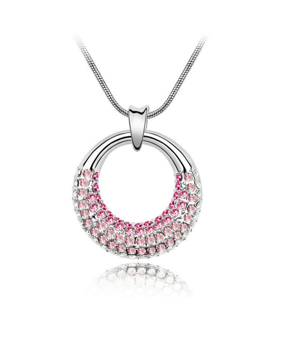 Image for Swarovski - Pendant made with a Pink Crystal from Swarovski