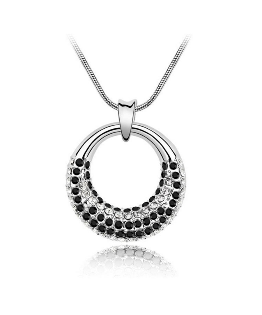 Image for Swarovski - Pendant made with a Black Crystal from Swarovski