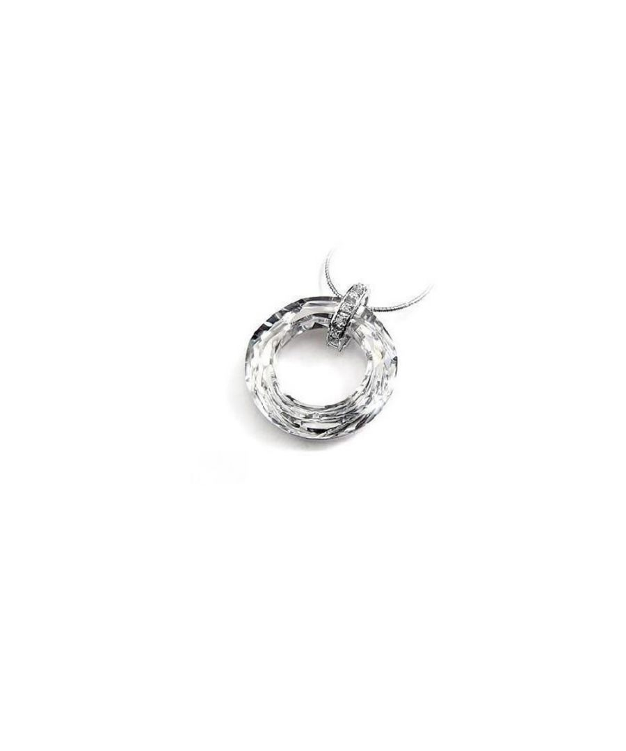 Image for Swarovski - Circle Pendant made with a White Crystal from Swarovski
