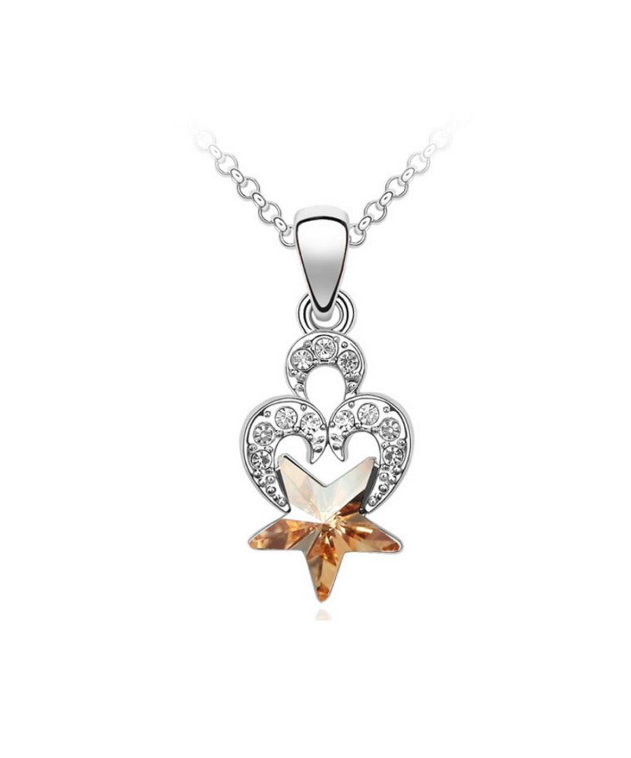 Image for Swarovski - Heart and Star Pendant made with a Crystal from Swarovski