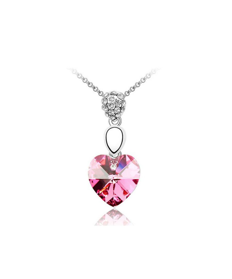 Image for Swarovski - Heart Pendant made with a Pink Crystal from Swarovski