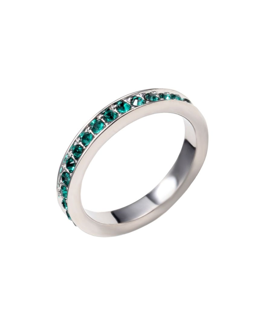 Image for Swarovski - Green Swarovski Crystal Elements Alliance Ring