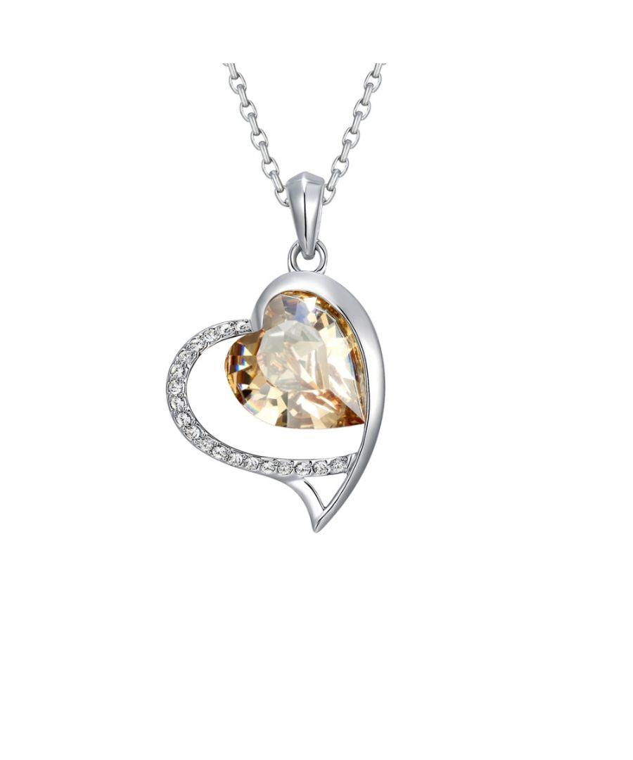 Image for Swarovski - Gold Swarovski Crystal Elements Heart Pendant
