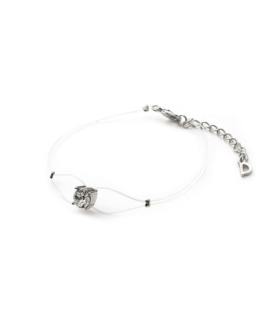 Image for Swarovski - White Invisible Nylon Bracelet and Swarovski Crystal Elements White
