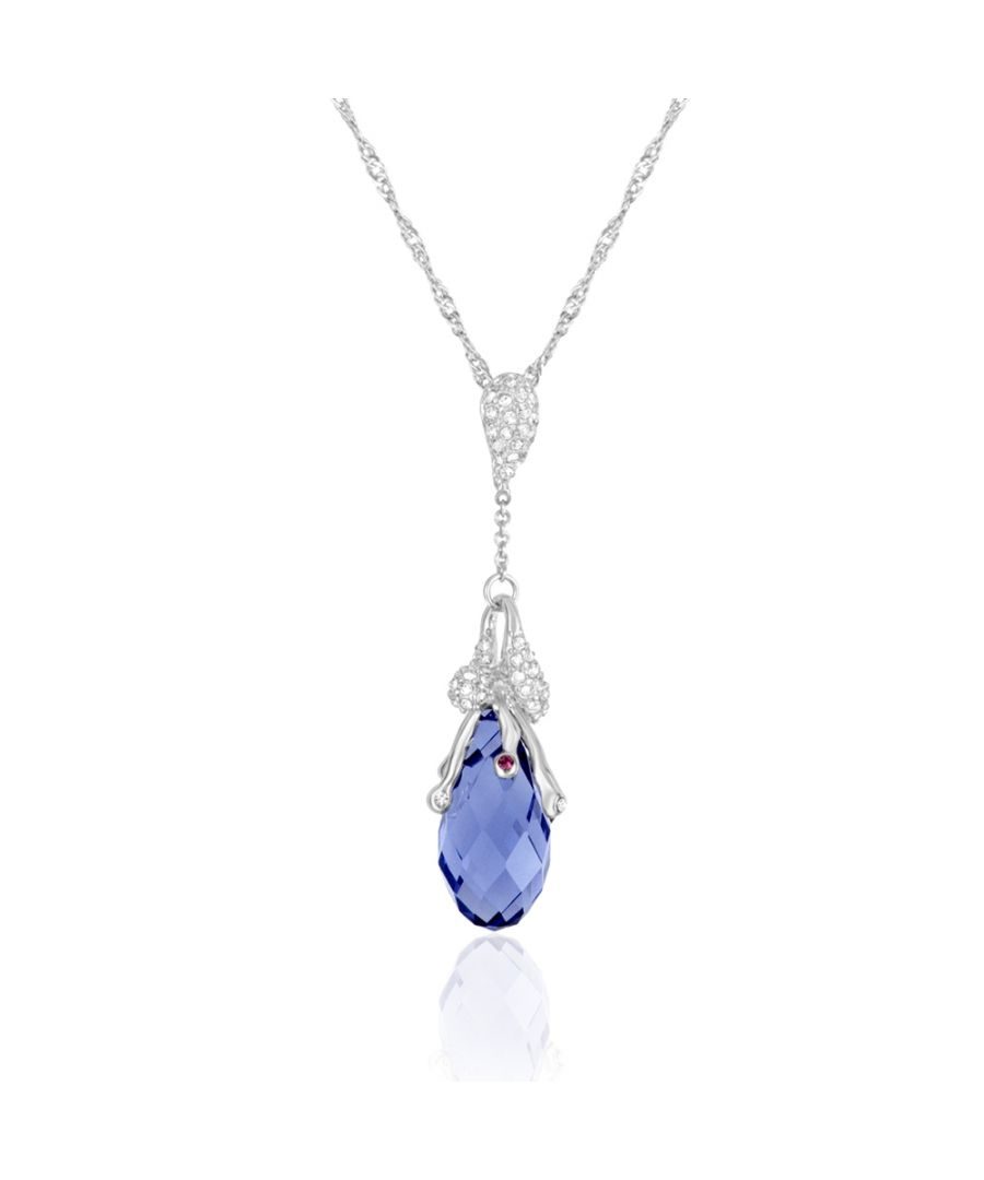 Image for Swarovski - Purple Swarovski Crystal Elements and Rhodium Plated Necklace