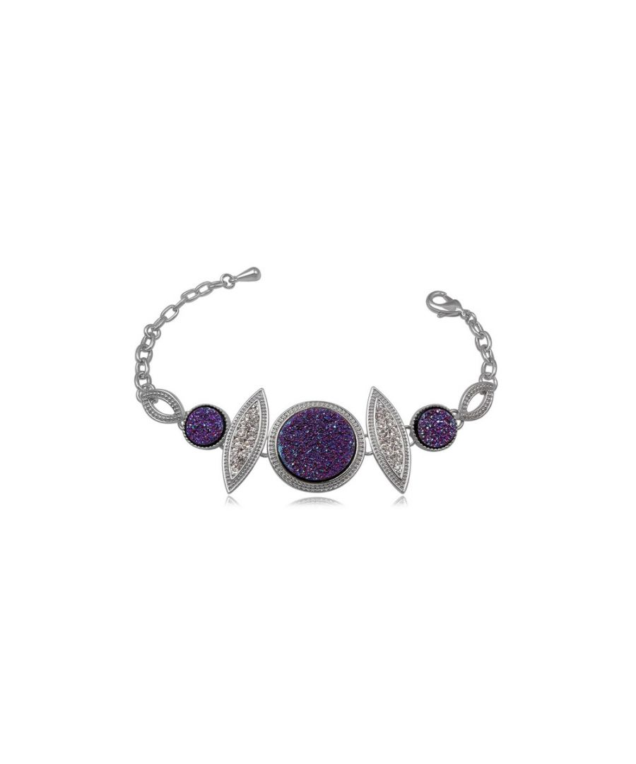 Image for Purple Crystal Druzy Bracelet
