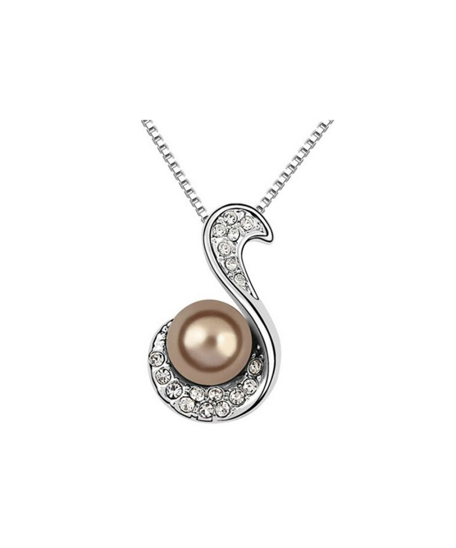 Image for Brown Pearl and White Crystal Pendant