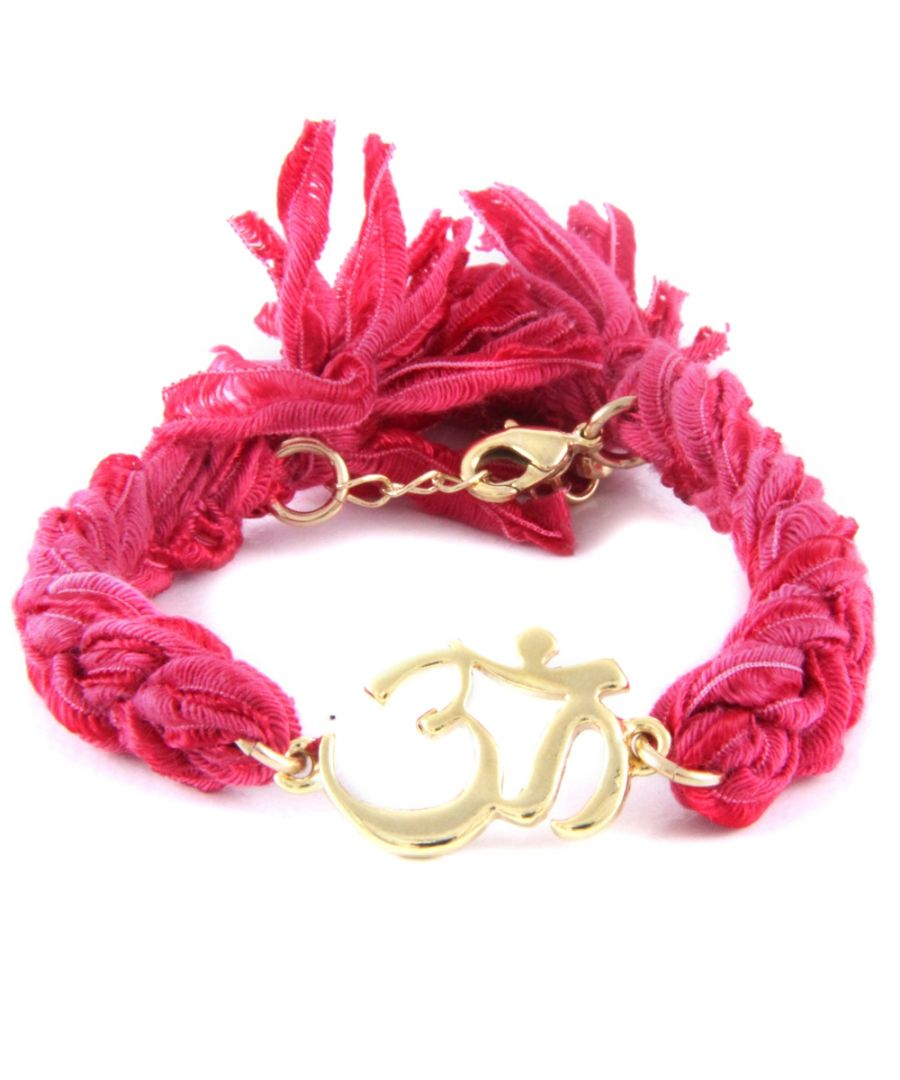 Image for Ettika - Pink Ribbons and Yellow Gold Om Bracelet