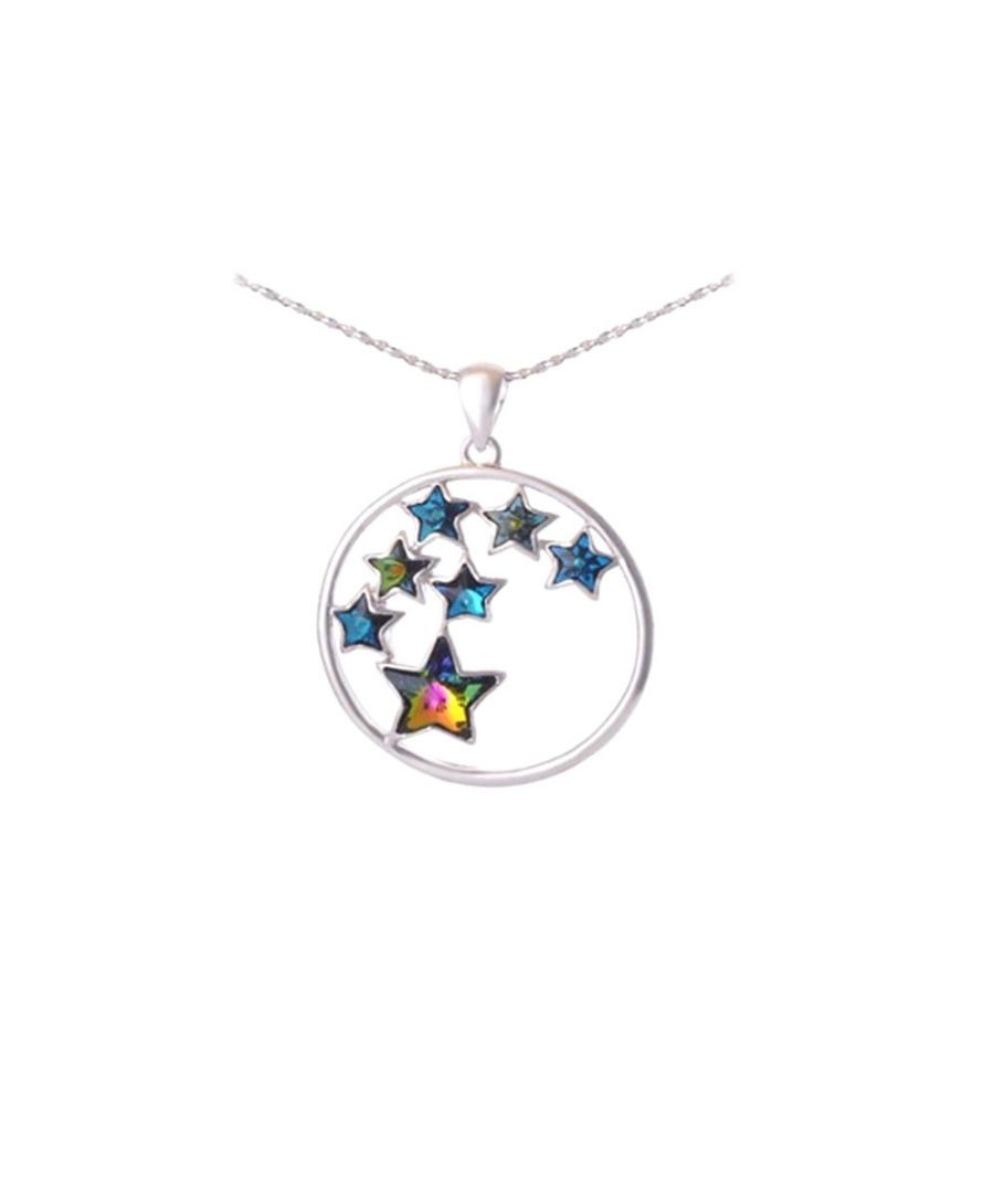 Image for Swarovski Crystal Elements Star Pendant and Rhodium Plated