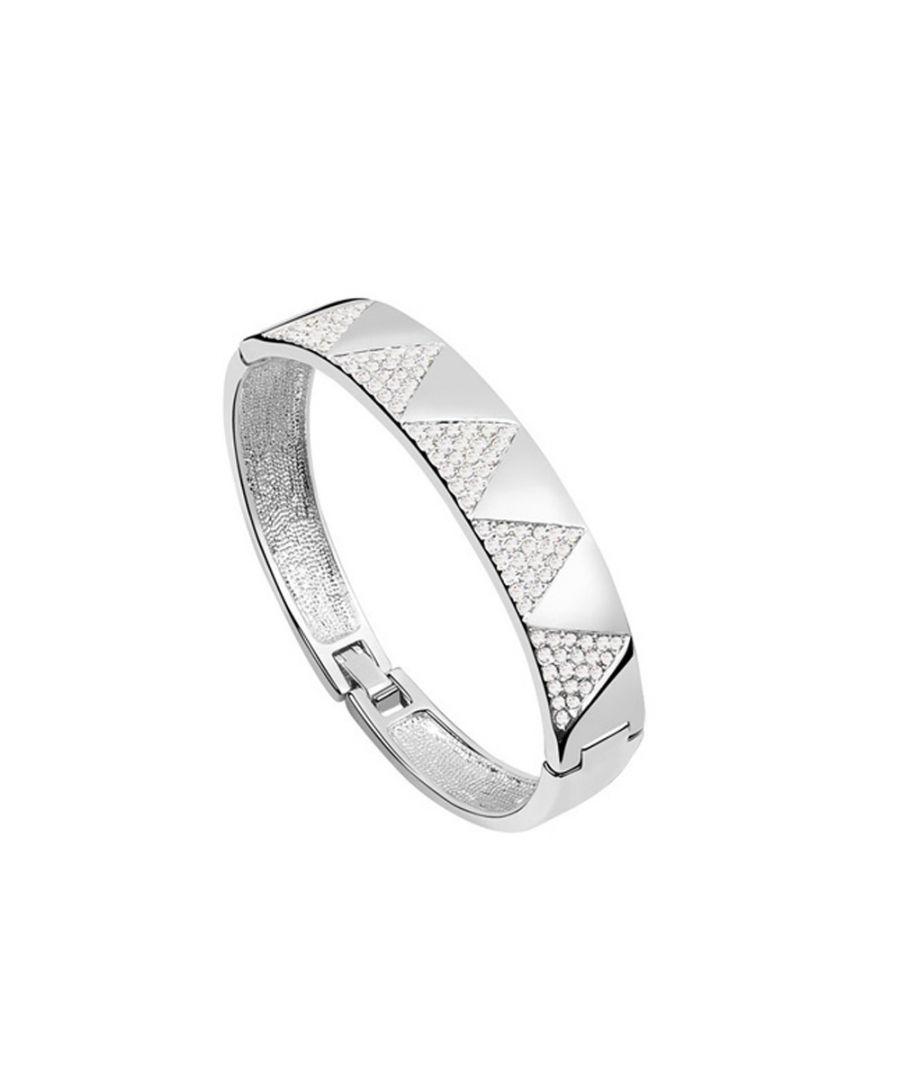 Image for Swarovski - Bangle Bracelet made with Crystal Swarovski Elements White