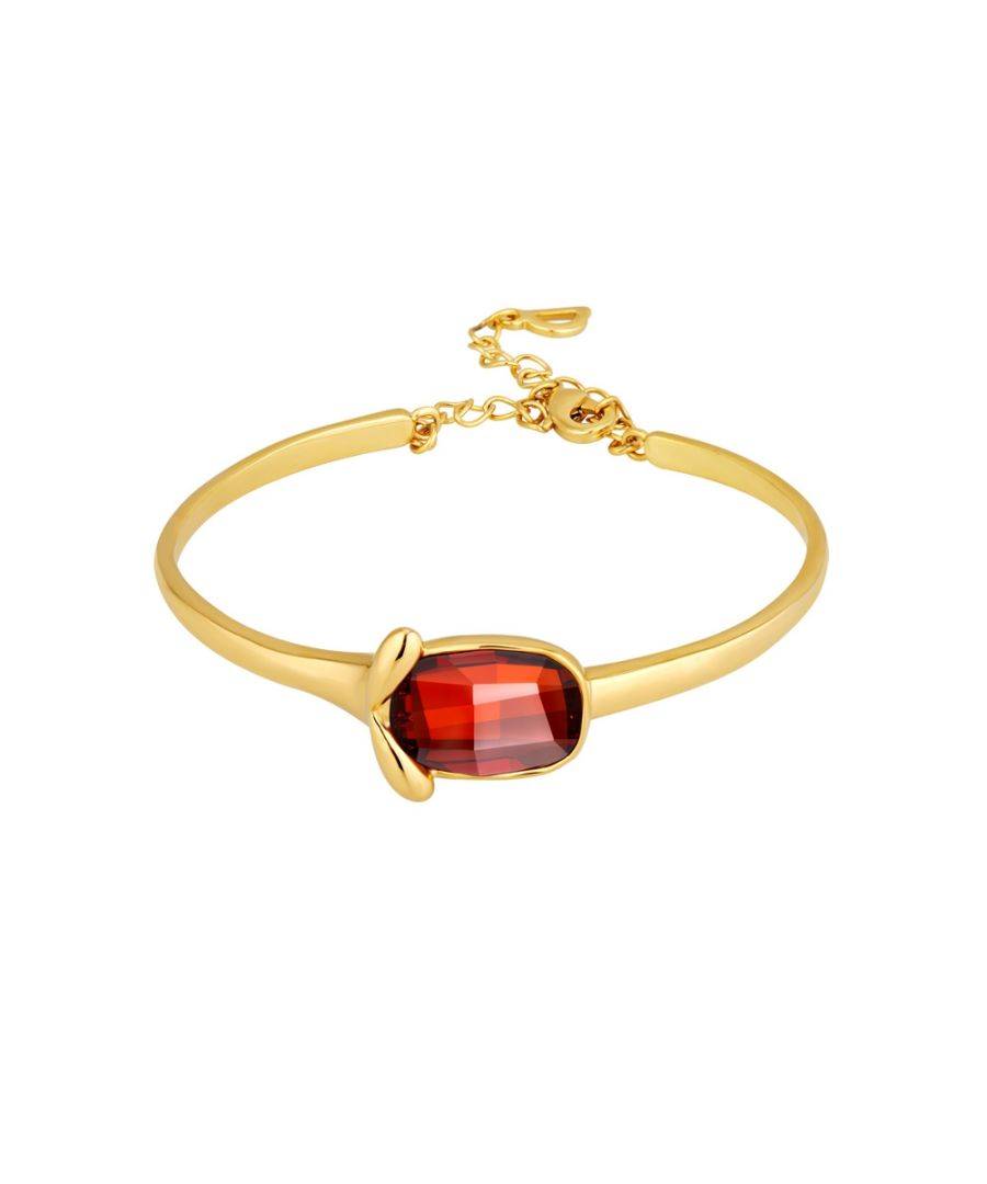 Image for Swarovski - Red Swarovski Crystal Elements Bangle Bracelet and Yellow Gold Plated