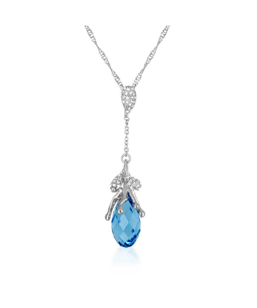 Image for Swarovski - Blue Swarovski Crystal Elements Necklace and Rhodium Plated