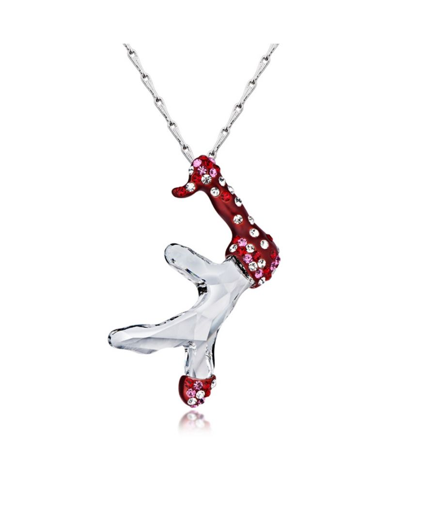 Image for Swarovski - White Snowman Swarovski Crystal Element Pendant
