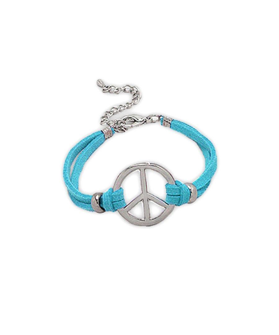 Image for Blue Suedin Peace and Love Bracelet