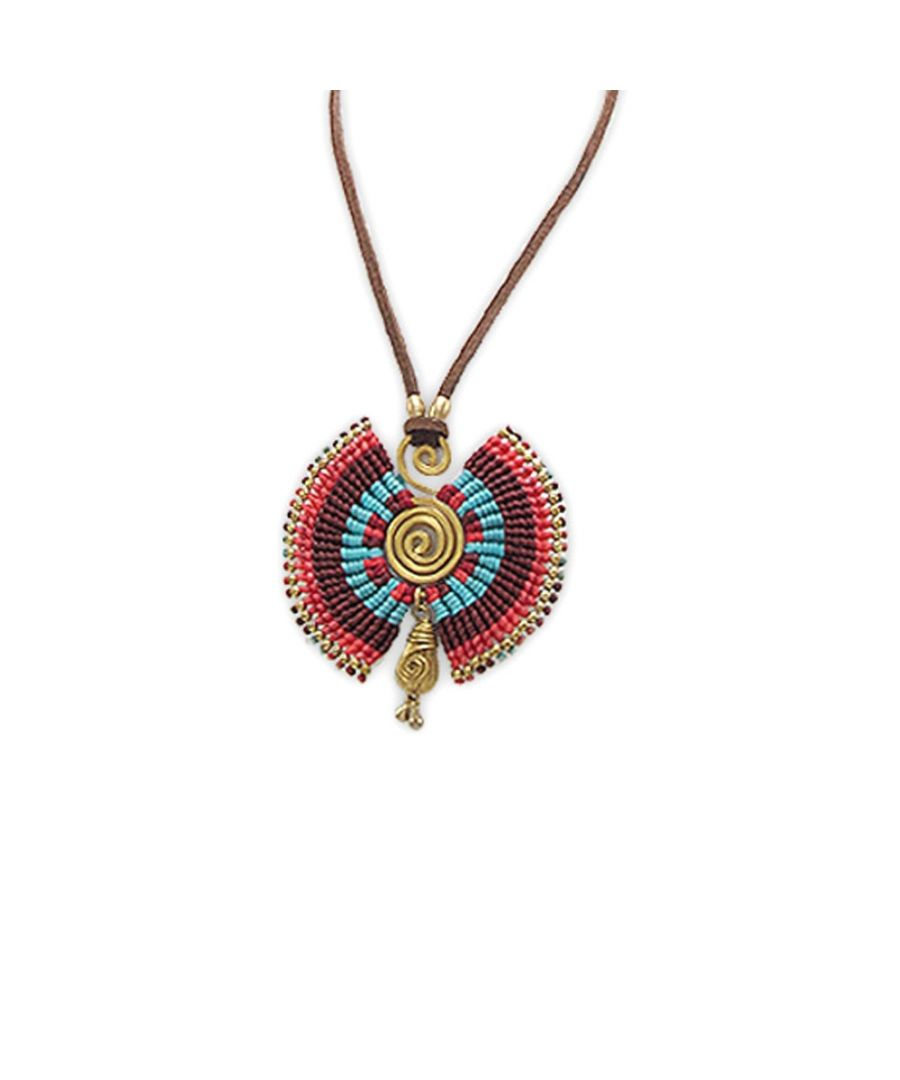 Image for Multicolor Pearls and Gold Metal Spiral Necklace