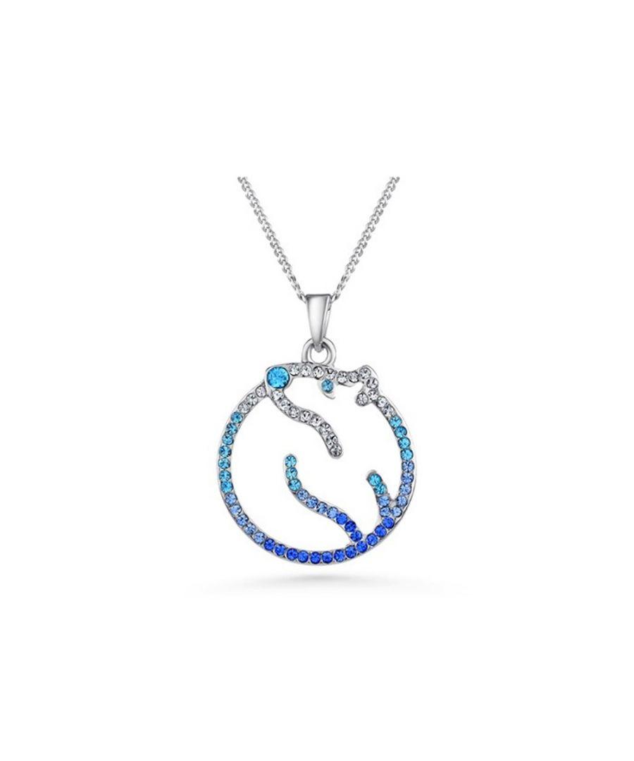 Image for Swarovski - Blue Swarovski Crystal Elements Polar Bear Pendant