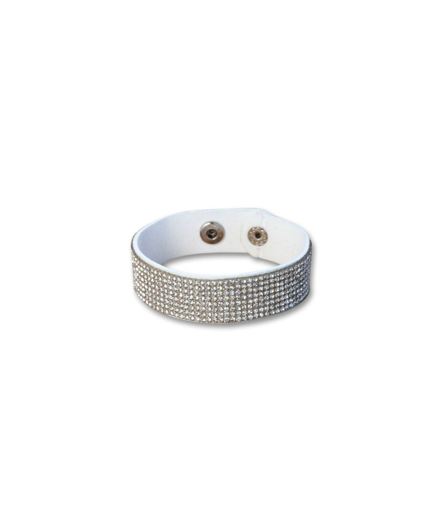 Image for Swarovski - White Swarovski Crystal Elements White Leather Bracelet