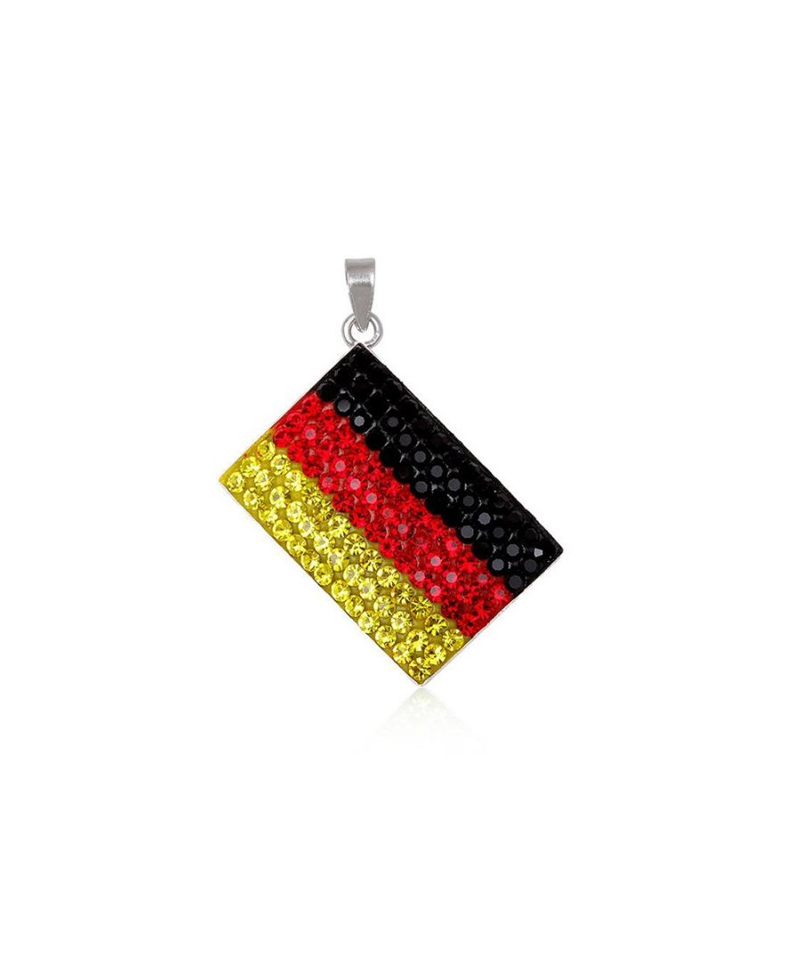 Image for Germany Flag Crystal Pendant and 925 Silver