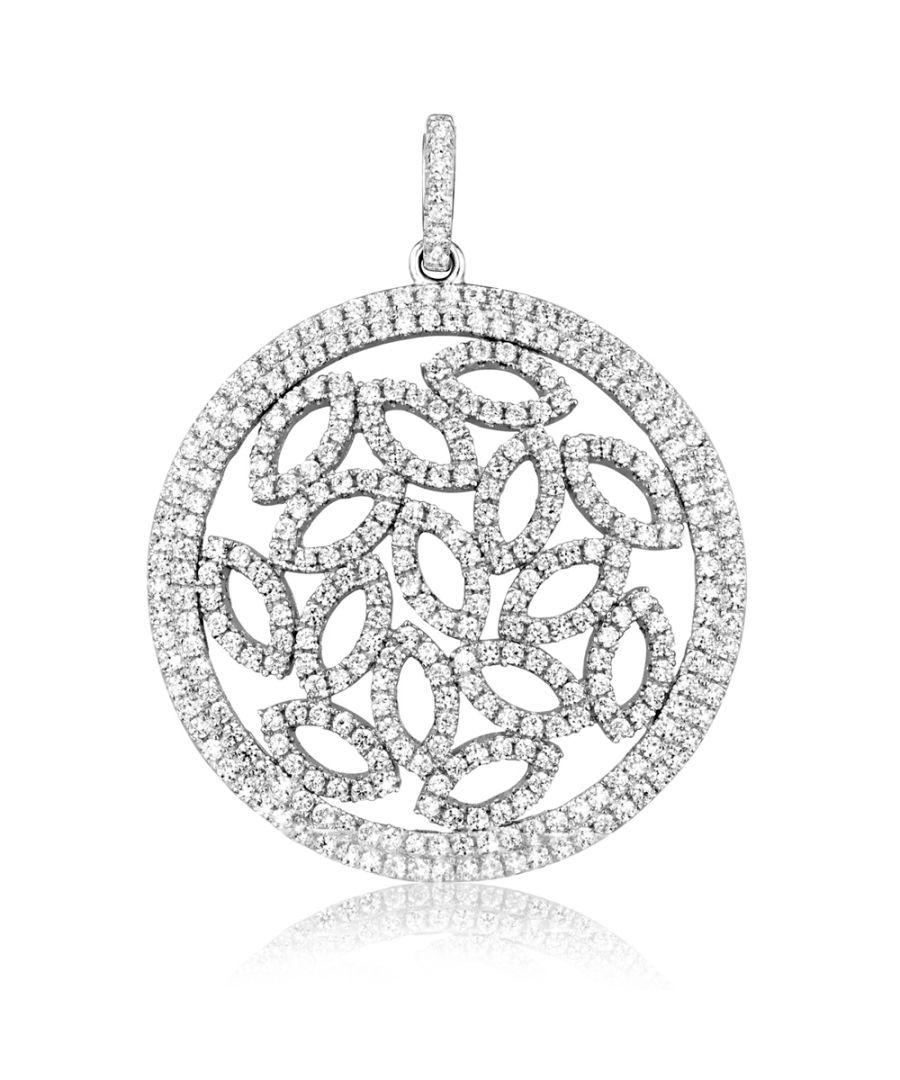 Image for Swarovski - Pendant Design Silver and White Swarovski Crystal Cubic Zirconia