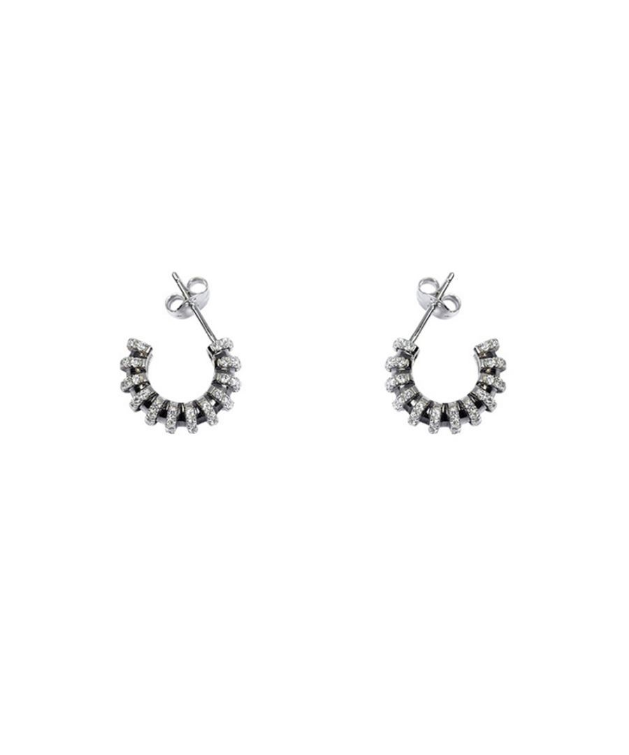 Image for Swarovski - White Swarovski Crystal Zirconia and 925 Silver Earrings