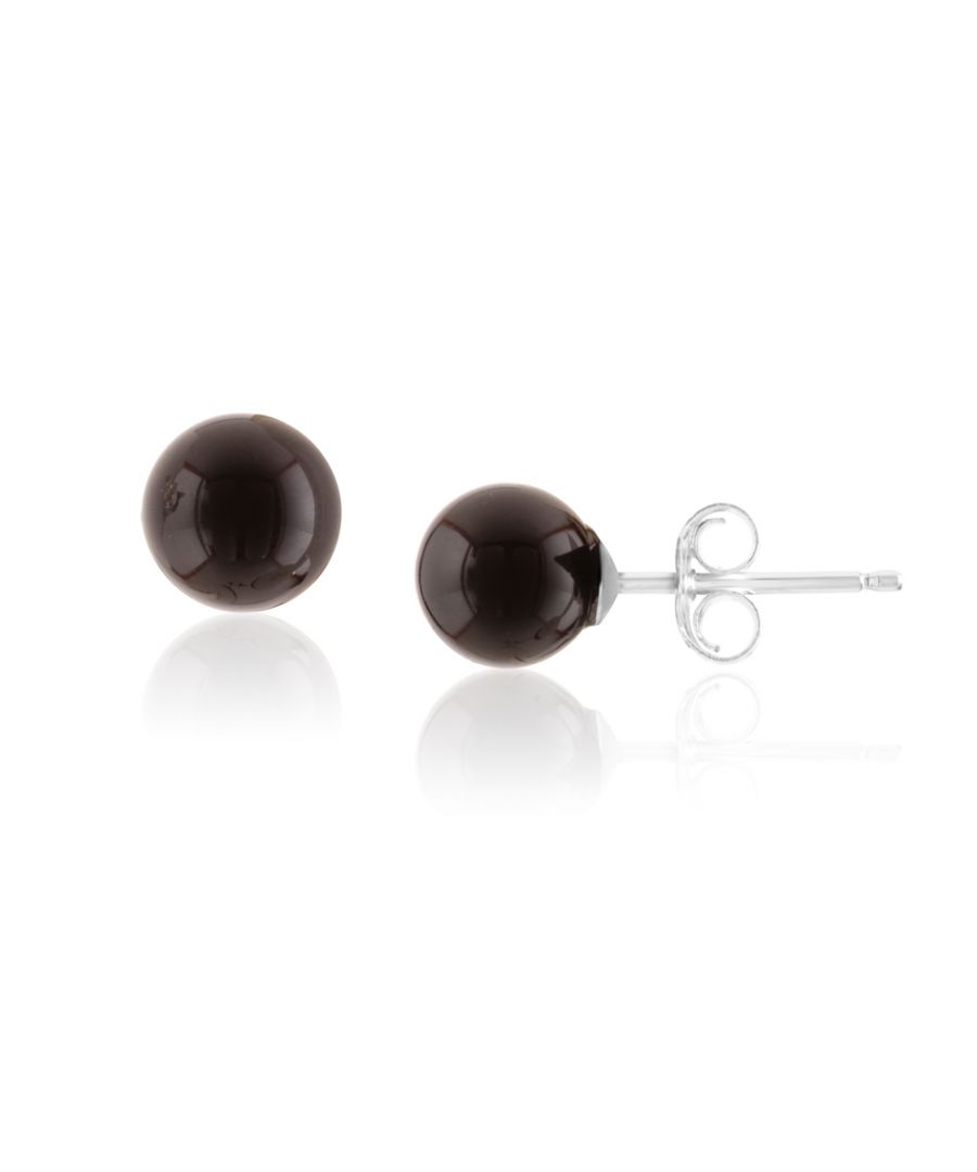 Image for Black Onyx Pearl Gemstones Earrings and 925 Silver