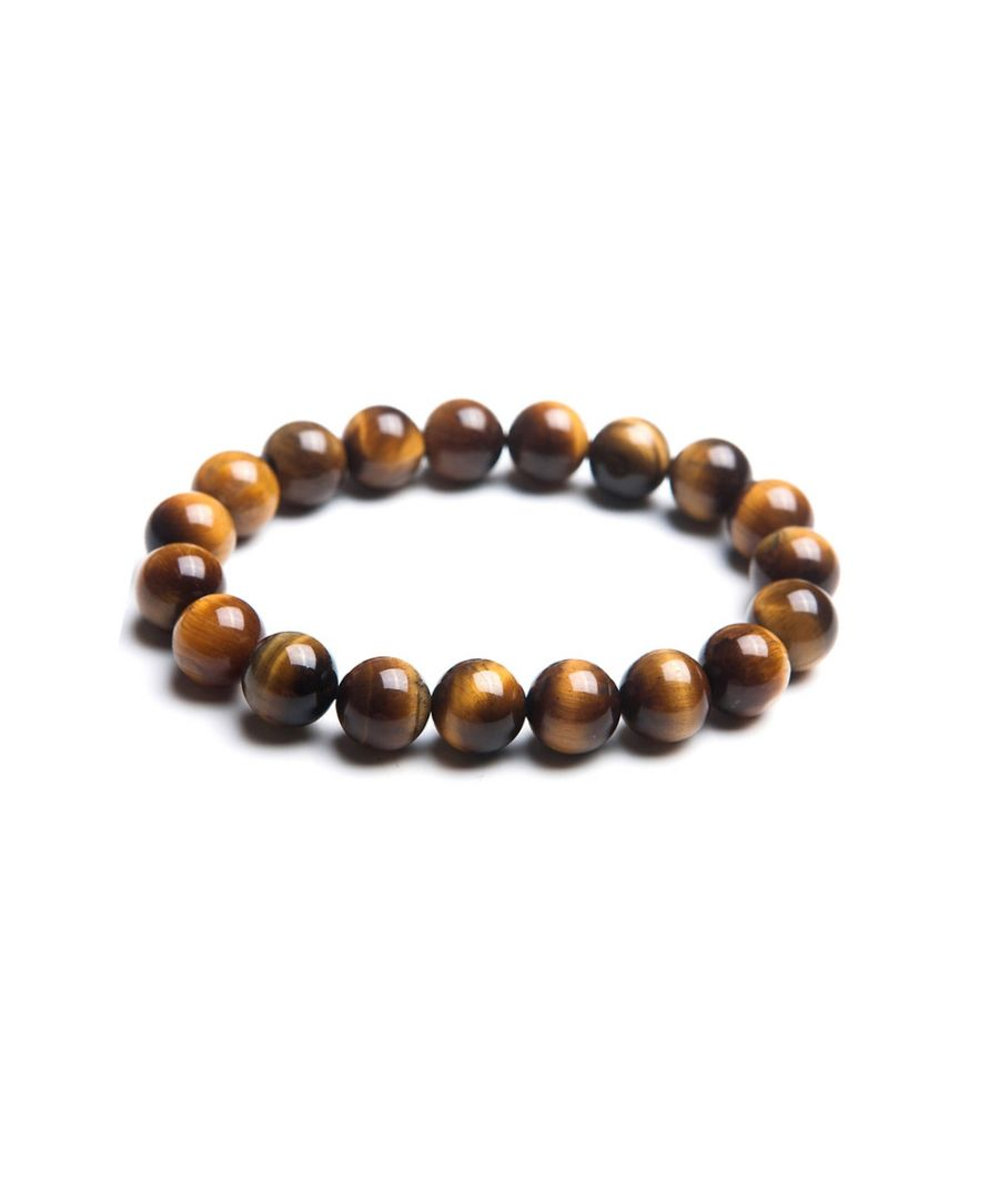 Image for Brown Tiger Eye Pearl Stretch Women and Men Bracelet