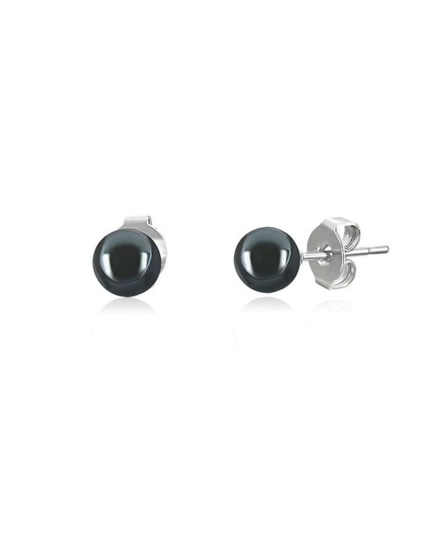 Image for Black Hematite Pearls Earrings and 925 Silver