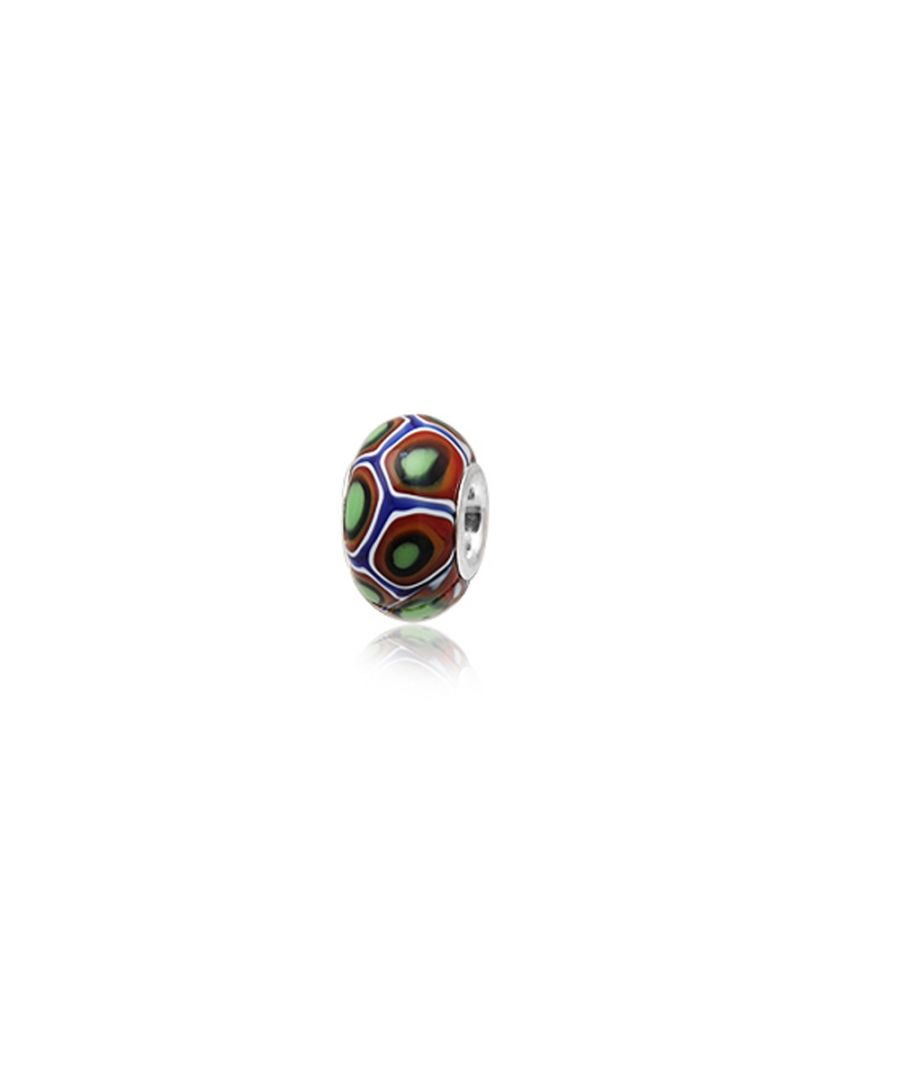 Image for Red and Green Murano Glass Charms Bead and 925 Silver