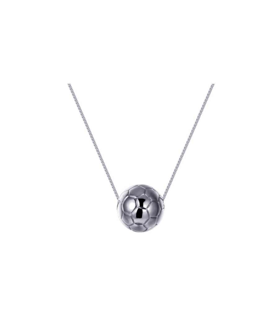Image for Rhodium plated Football Mixte Necklace