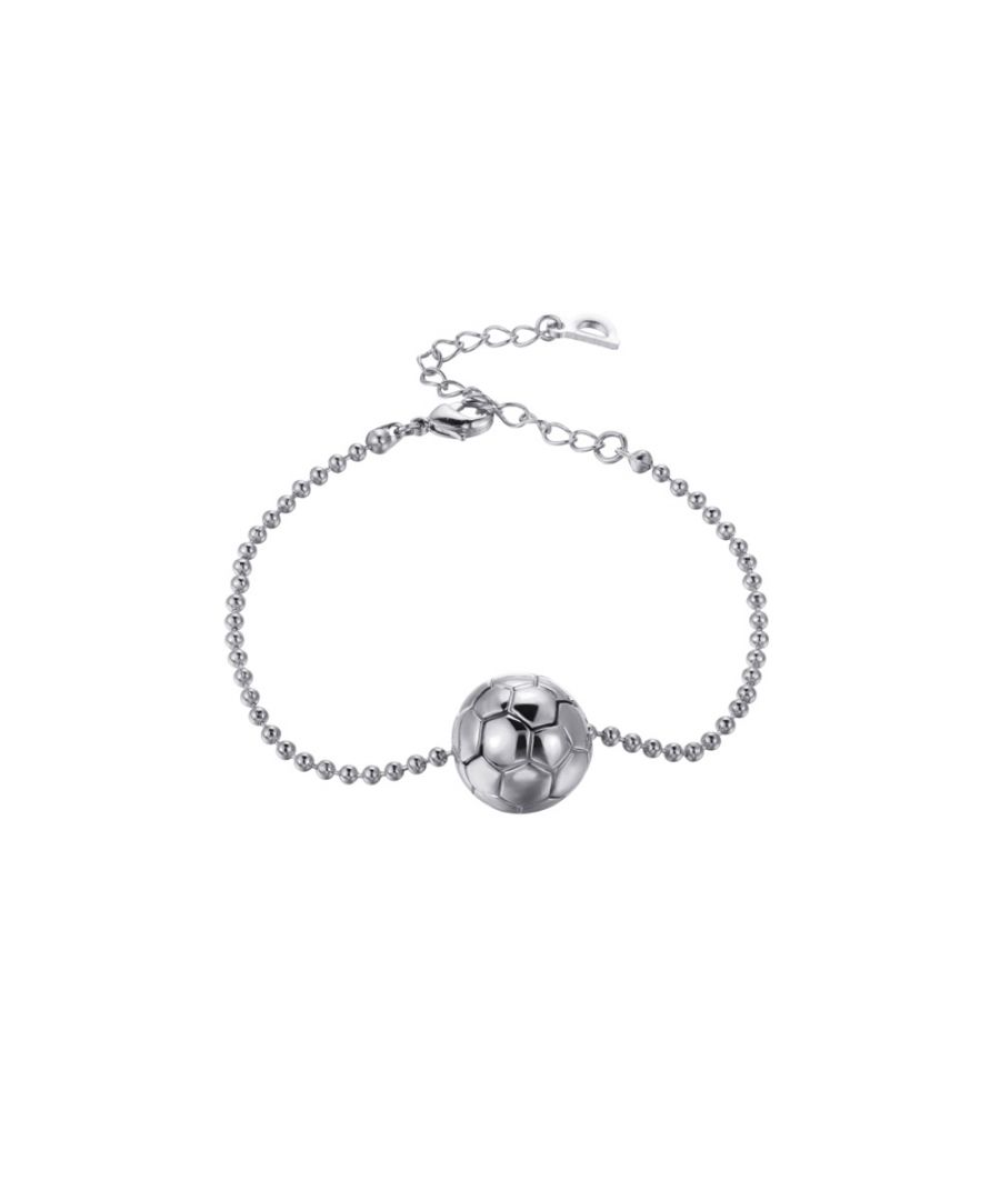 Image for White gold plated Football Mixte Bracelet