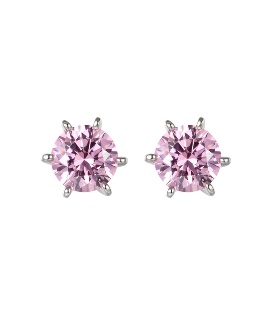 Image for Swarovski - Pink Swarovski Zirconia Crystal Earrings and Silver Mounting
