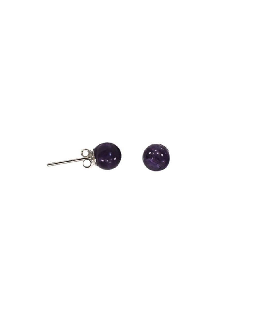 Image for Purple Amethyst Pearls Earrings and 925 Silver