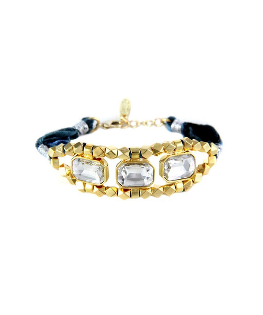 Image for Ettika - Blue Ribbons and White Crystal Bracelet