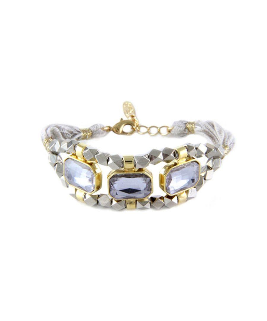 Image for Ettika - Grey Ribbons and Crystal Bracelet