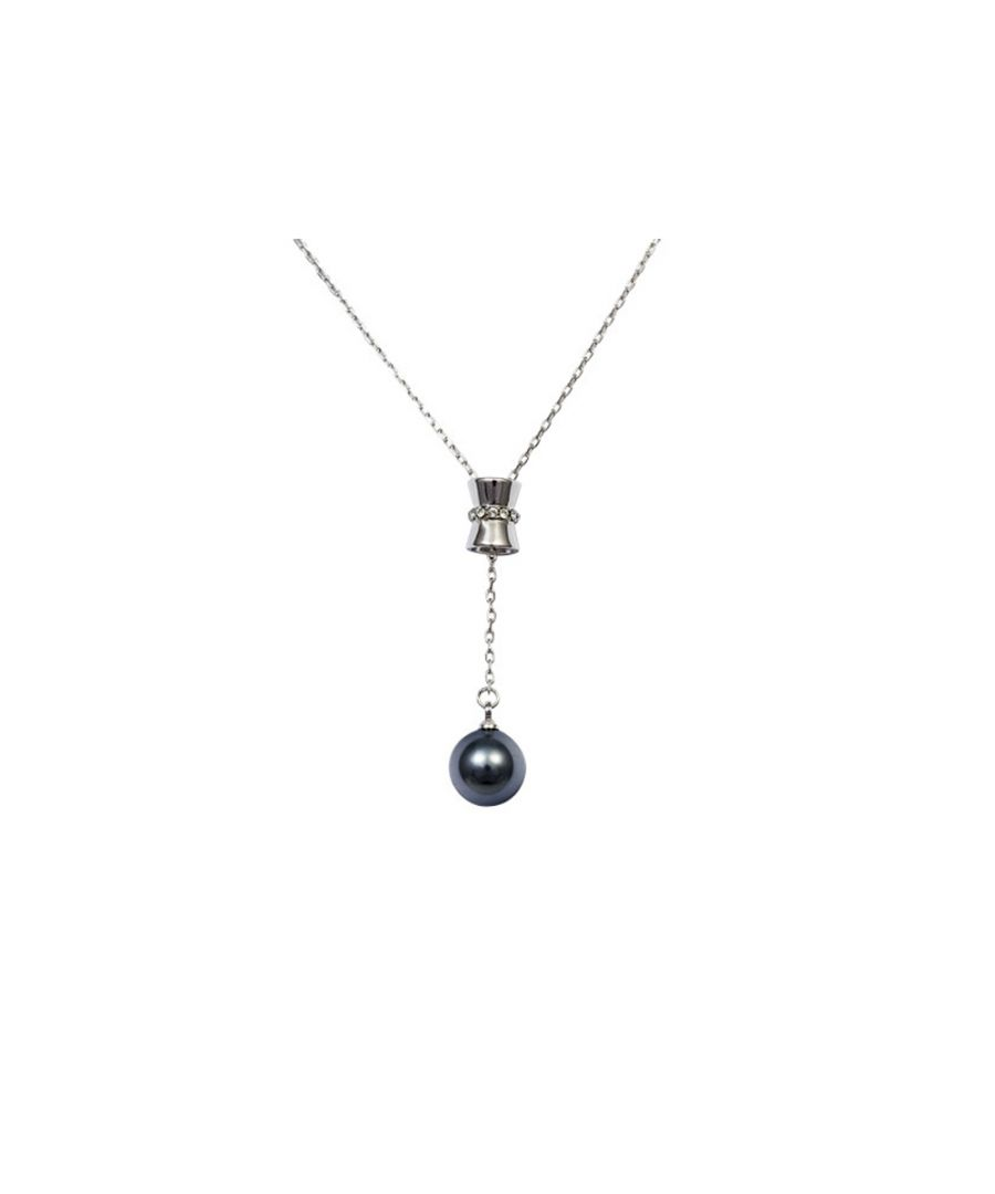 Image for Swarovski - Grey Pearl Pendant, Swarovski Element Crystal