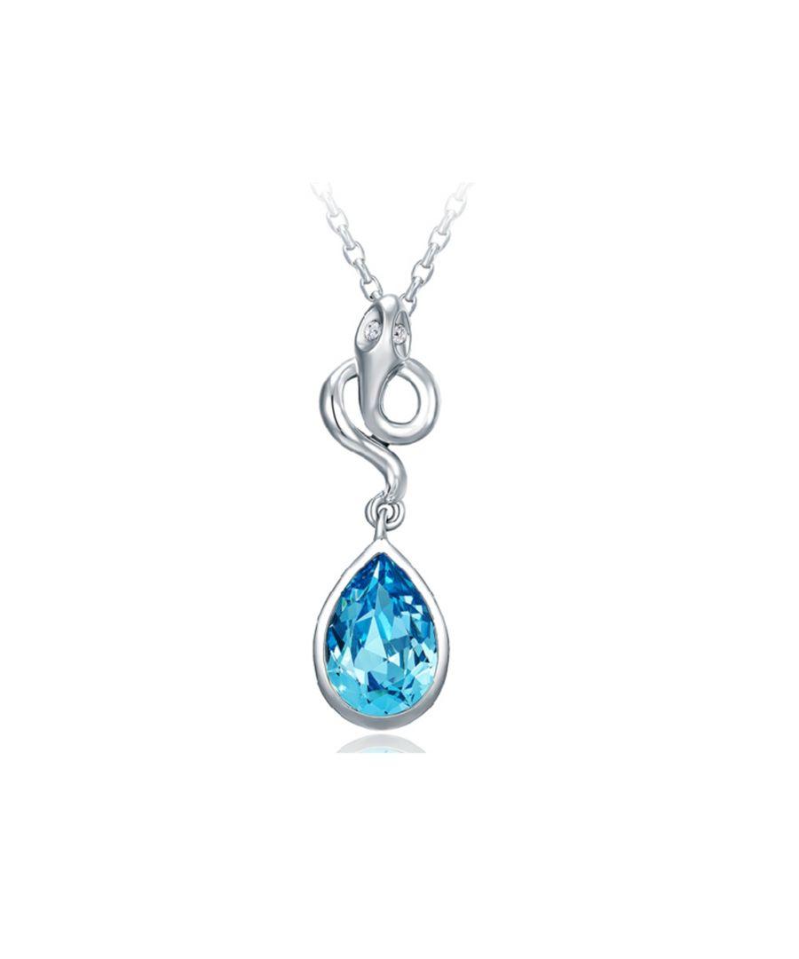 Image for Swarovski - Blue Swarovski Crystal Elements Snake Pendant